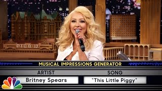 Download Wheel of Musical Impressions with Christina Aguilera Video