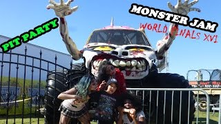 Download 2015 Monster Jam World Finals XVI Awesome Pit Party Video