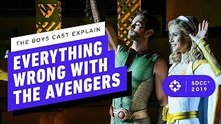 Download The Boys Cast Explain Everything Wrong With The Avengers - Comic Con 2019 Video