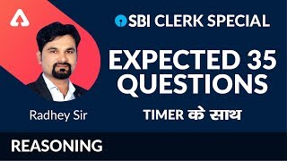 Download SBI Clerk Special I Expected 35 Questions | Radhey Ki Reasoning I Day 3 | Radhey Sir | 6 PM Video