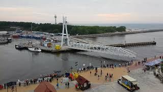 Download Most obrotowy zwodzony Ustka - widok z latarni morskiej Video