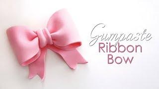 Download Gumpaste / Fondant Ribbon Bow Tutorial for Cakes Video