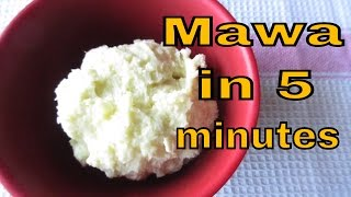 Download 5 minutes MAWA / KHOYA recipe -without microwave- How to make khoya instantly? Video