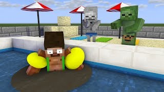 Download Monster School : SWIMMING Challenge Girls vs Boys - Minecraft Animation Video