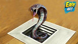 Download How to draw a 3D snake / Cómo dibujar una culebra 3D /Ilusion optica Video