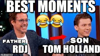Download Tom Holland and Robert Downey Jr. Funniest and Best Father/Son Moments | Try Not To Laugh 2018 Video