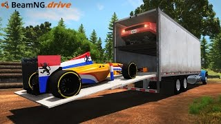 Download LOADING & HAULING RACE CARS IN A SEMI TRUCK! Driving & Crash Testing! (BeamNG Drive Mods) Video
