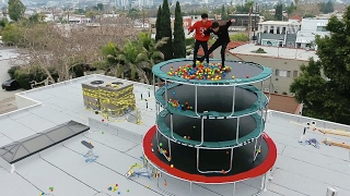 Download TRAMPOLINE TOWER WITH BALL PIT! Video