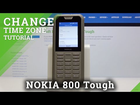 How to Set Up Time in NOKIA 800 Tough – Date & Time Settings