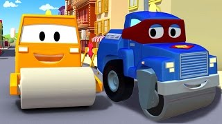 Download Carl the Super Truck and the Steamroller in Car City with Tom the Tow Truck | Trucks cartoons Video