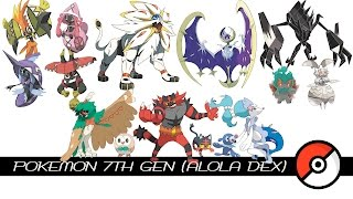 Download Pokemon 7th Gen / Alola Dex Video