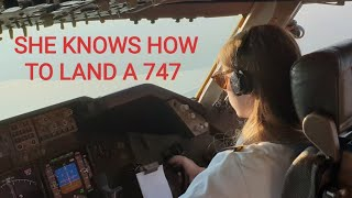 Download SHE LANDED THE BOEING 747 SMOOTHLY IN ATLANTA AIRPORT Video