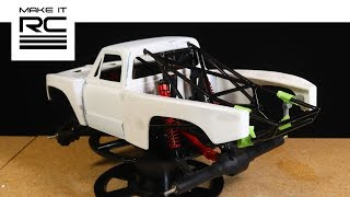 Download RC 72 Chevy Prerunner Progress: Mounting Fender Flares and Bedsides + Headlights (E23) Video