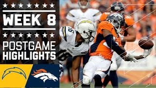 Download Chargers vs. Broncos   NFL Week 8 Game Highlights Video