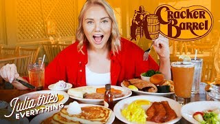 Download Trying 50 Of Cracker Barrel's Most Famous Menu Items Video