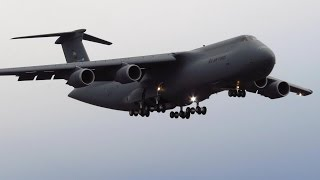 Download SUPER RARE!! US Air Force Lockheed C-5 Galaxy CLOSE UP Landing at Berlin Tegel Airport [Full HD] Video