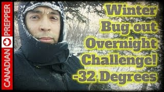 Download -32° EXTREME COLD Overnight Bug Out Challenge! | Canadian Prepper Video