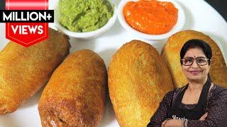 Download बिना फ्राई किये बनाये टेस्टी व क्रिस्पी ब्रेड रोल    Crispy Bread Roll Recipe    Video