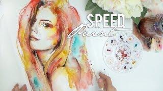 Download Speed Paint Watercolor Portrait by Carah Amelie Video
