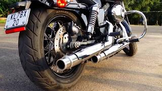 Download Harley Davidson Street Bob walk around, Custom build Exhaust, sound test in Calicut, Kerala, India Video