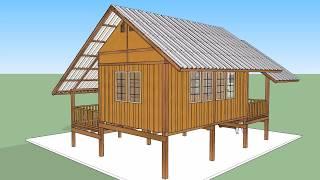 Download บ้านไม้หลังเล็ก ( No. 002 ) Sketchup by : i. pakdee Video