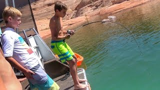 Download Kid Catches Giant Catfish! Video