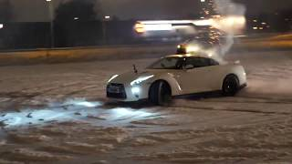 Download Nissan GTR shooting fireworks New Year 2017 Video