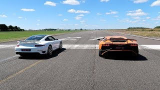 Download RACE! LAMBORGHINI AVENTADOR SV VS PORSCHE 911 TURBO S! Video