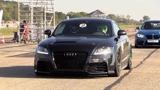 Download 430HP Audi TT-RS - POP & BANGS, Revs, Drag Racing! Video