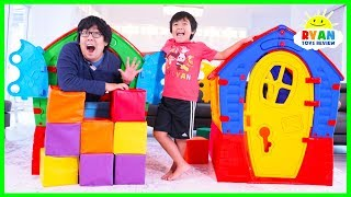 Download Ryan Pretend Play with Playhouses for Children! Video