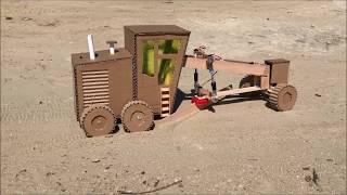 Download DIY Road grader for leveling soil, snow or sand - Cardboard toy Video