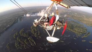 Download Microlight flight over Victoria Falls - Mosi-oa-Tunya Video