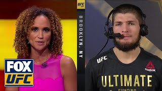 Download Khabib Nurmagomedov talks to the UFC on FOX crew | INTERVIEW | UFC 223 Video