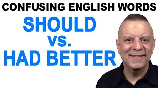 Download Should vs Had Better - Confusing English Words Video