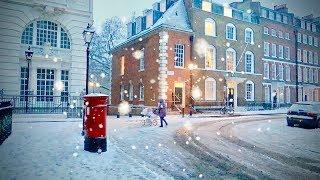 Download Snow Frozen Winter Wonderland City of London England - 2018 Storm Video