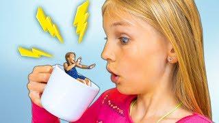 Download Amelia and Avelina swim in a magic mug adventure. Water fun in Aqualand Torremolinos Video