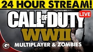 Download COD WW2 24 Hour Multiplayer Call of Duty Live Stream Gameplay XBOX ONE Video