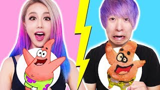 Download GF VS BF Pancake Art Challenge! Learn To Make Spongebob, The Powerpuff Girls, Emojis, Pokemon Video