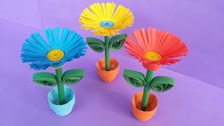 Download DIY: Quilling Miniature 3D Flower Pot !!! How to Make 3D Flower Pot With Paper !!! Video
