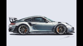 Download Porsche 911 GT2 RS Drawing Video