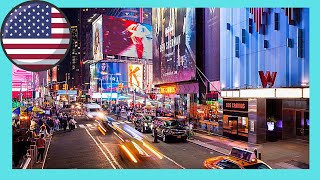 Download NEW YORK CITY, walking around famous 42ND STREET AT NIGHT Video