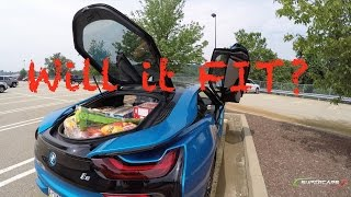 Download BMW i8: Will it FIT? Food Shopping for YouTUBERS [4K UHD] Video