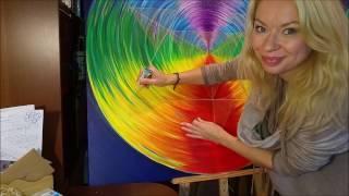 Download How to draw mandala - acrylic painting (3) - Mandala farbami akrylowymi. Video