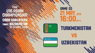Download Turkmenistan v Uzbekistan - Full Game - FIBA U16 Asian Championship 2019 CABA Qualifier Video
