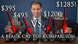 Download $400 Shoes vs $1300 Shoes | A Black Cap Toe Oxford Comparison | Kirby Allison Video