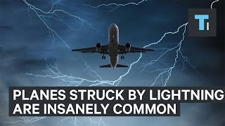 Download A plane struck by lightning is more common than you might think Video
