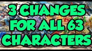 Download 3 *NEW* BUFFS and NERFS for *EVERY* Character in Super Smash Bros. Ultimate! (ALL 63 CHARACTERS) Video