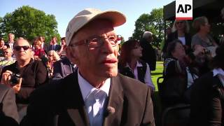 Download German and US D-day veterans attend service at German cemetery Video