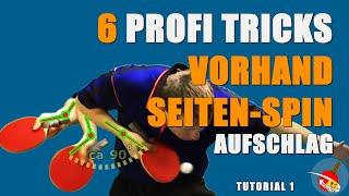 Download How to serve: Tutorial - Tischtennis Vorhand Seiten-Spin Aufschlag Video
