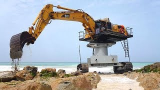 Download Extreme Dangerous Excavator Heavy Equipment Operator Skill Amazing Modern Construction Machinery Video